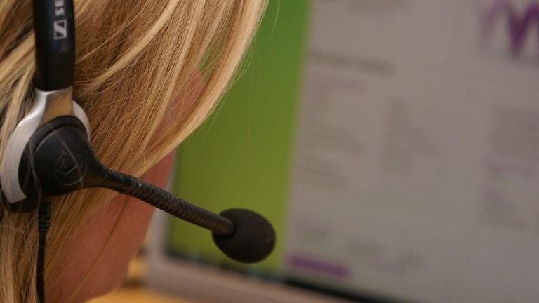Telefonförsäljare. Foto: Christian Ströberg/Sveriges Radio