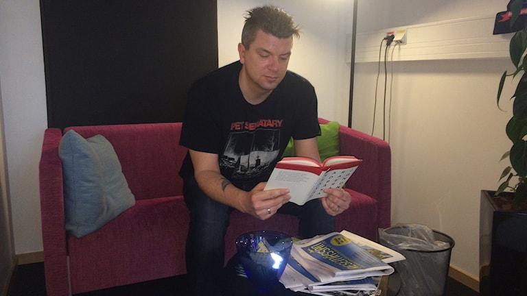 Författaren Mats Strandberg. Foto: Johan Gustafsson/Sveriges Radio