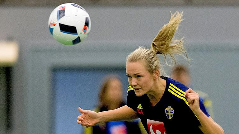 Magdalena Ericsson på landslagsträning 2016. Foto: Adam Ihse/TT