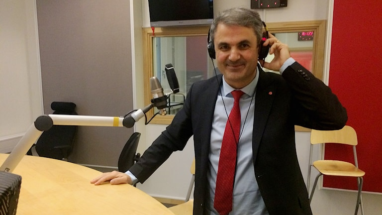 Energiminister Ibrahim Baylan. Foto: Johan Gustafsson/Sveriges Radio