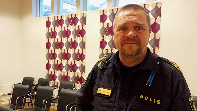 Peter Johansson, chef för kommunpolisen i Norrköping. Foto: Lisen Elowson Tosting/Sveriges Radio