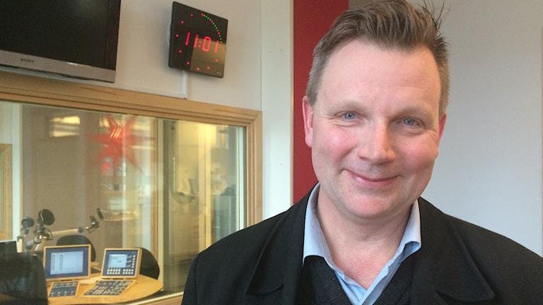 Claes Westling, Riksarkivet i Vadstena. Foto: Jessica Gredin/Sveriges Radio.