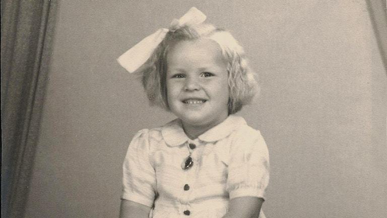 Kari Rosvall vid 4 års ålder