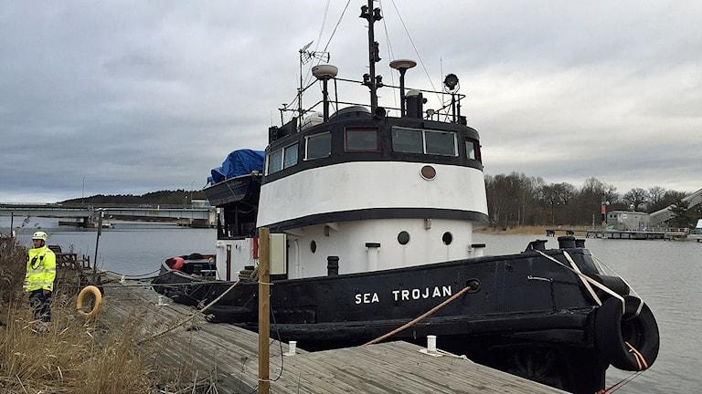 Bogserbåten Sea Trojan. Foto: Andreas Åsenheim/Sveriges Radio
