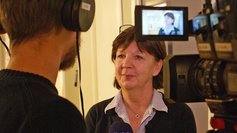 Kriminalinspektör Berit Brick. Foto: Tahir Yousef/Sveriges Radio
