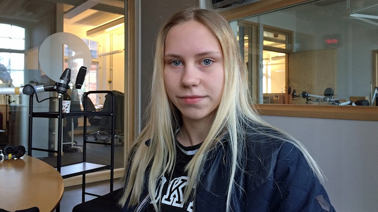 Hockeyspelaren Julia Gustafsson. Foto: Titti Elm/Sveriges Radio