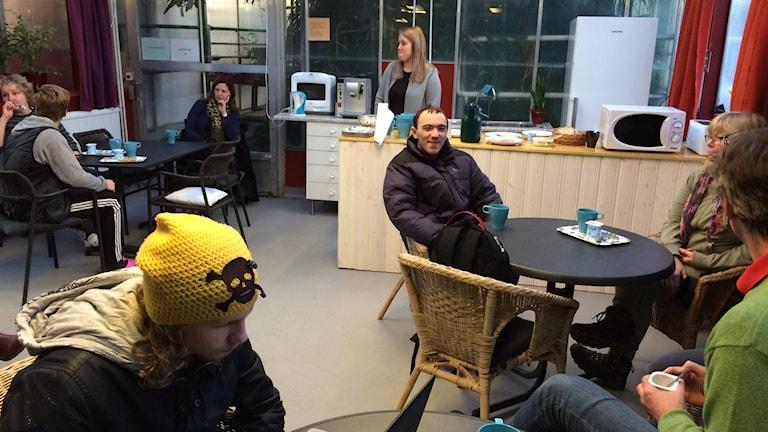 Frukostklubben på Himmelstagymnasiet. Foto: Rosmari Karlsson /Sveriges Radio
