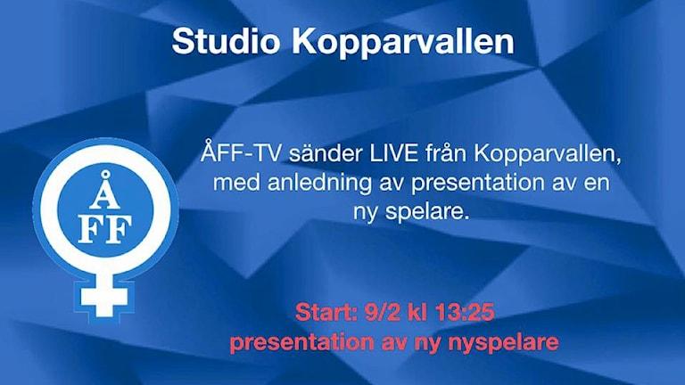 Studio Kopparvallen inför presskonferensen