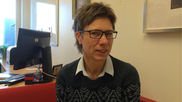 Centrumchef Eva-Lena Zetterlund på Sinnescentrum på US. Foto: Raina Medelius/Sveriges Radio