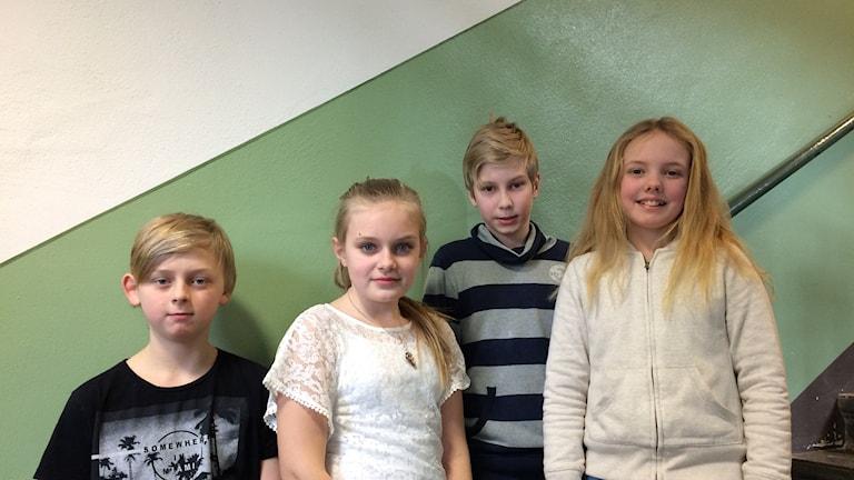 Adam, Tilde, Andreas och Eline
