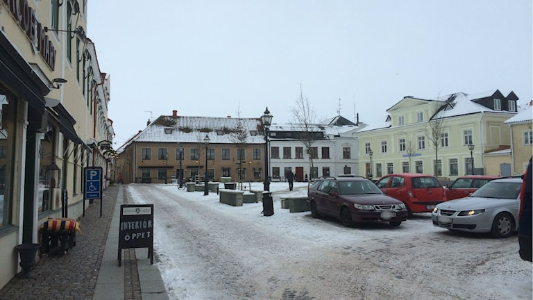 Torget i Vadstena. Foto: Christina Turesson/Sveriges Radio