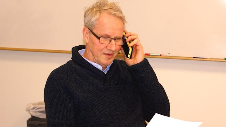 Sten Lundberg en av rektorerna på Anders Ljungstedts Gymnasium i Linköping Foto: Tahir Yousef Sveriges Radio