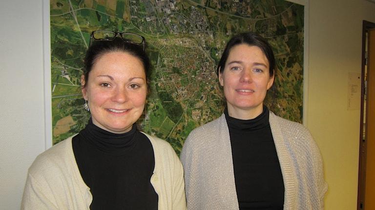 Biträdande rektor Linda Tengel och kurator Jeanette Söderström på Ekholmsskolan.