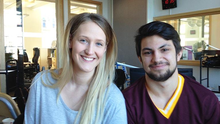 Victoria Pettersson och Thor Khodayari, studenter från KSM