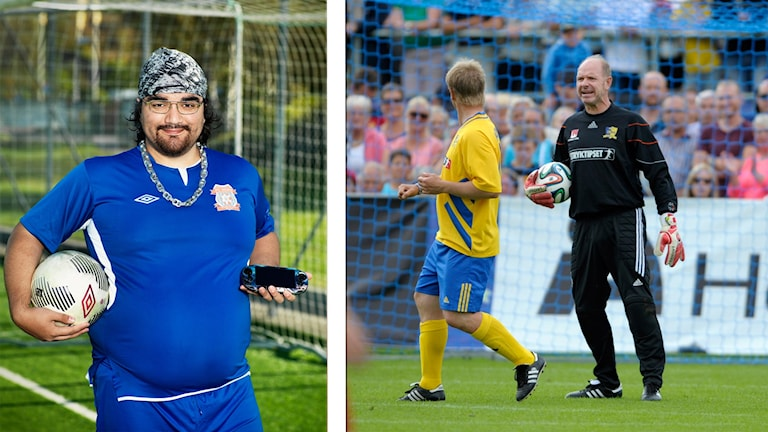 Manganörden Ivan Antoncich. Foto: Daniel Ohlsson/TV4. Tomas Ravelli under jubileumsmatchen 2014. Foto: Björn Lindgren/TT