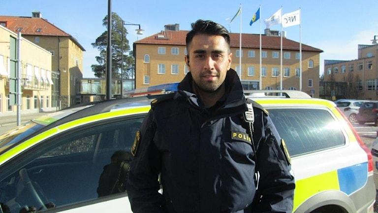 Polis Mustafa Panshiri i Linköping.