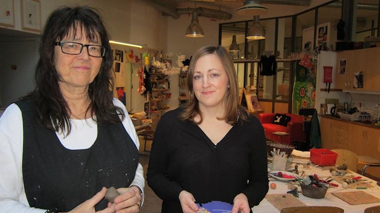 Bildpedagog Randi Leirnes och Lina Marcusson från Linköpings kommun.