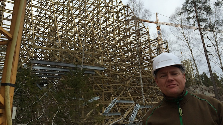 Niclas Palmqvist, projektledare vid bygget