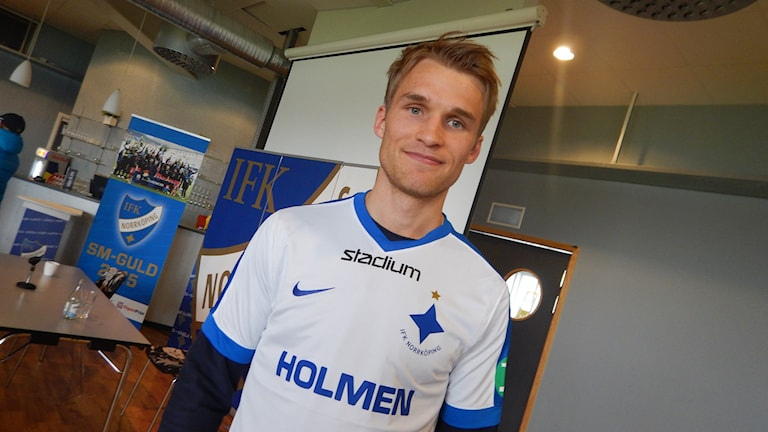 Sebastian Andersson, ny anfallare i IFK Norrköping.