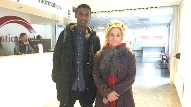 Hamza Ibrahim, Ensamkommandes förbund och Eva Thyselius, Migrationsverket.