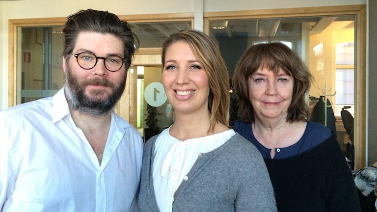 Östgötabänkens Peter Jansson, Lina Skandevall, Stina Opitz.