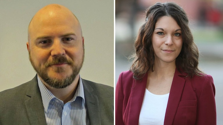 Mathias Sundin (L) och Teresa Carvalho (S)