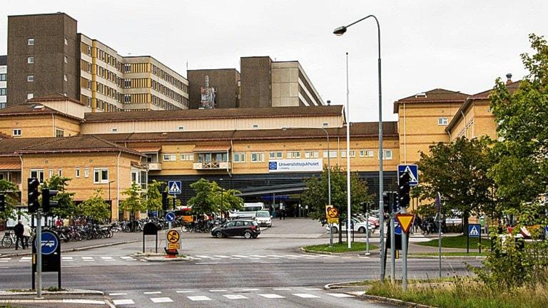 Universitetssjukhusets södra entré.