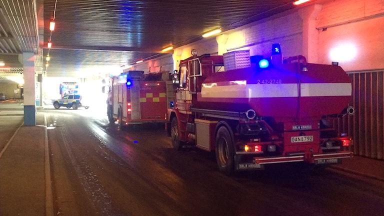 Brand i ett gym i Skäggetorps centrum i Linköping