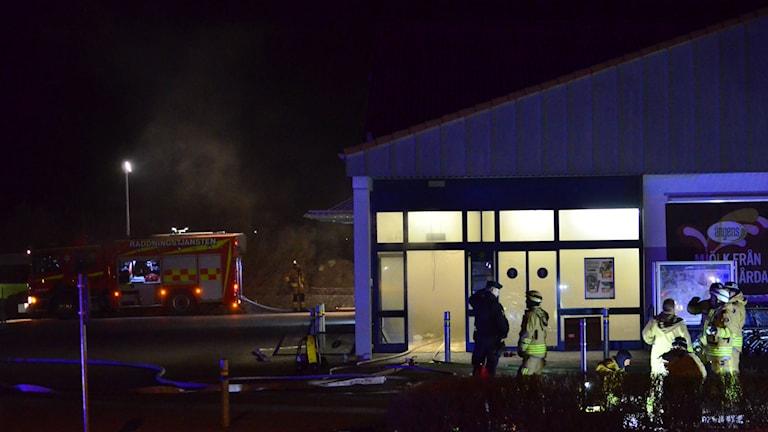 Matbutik i Motala utsatt för anlagd brand.