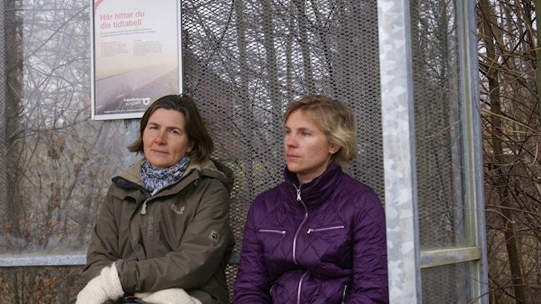 Eva Hagström och Sara Eriksson Foto: Tahir Yousef Sveriges Radio