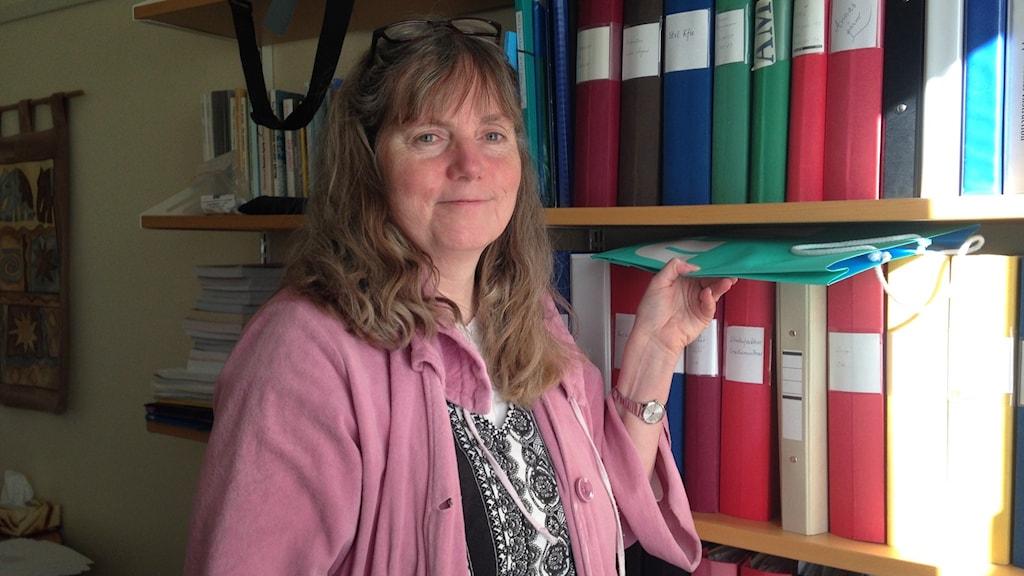 Ingrid Olsson som ansvarar för snabbspåret för utländska lärare vid Linköpings universitet Foto:Lisen Elowson Tosting/Sveriges Radio