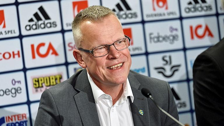Janne Andersson presenteras som ny förbundskapten för herrarnas landslag i fotboll.