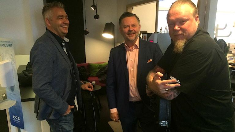Anders Holm, Peter Trygg och Jerry Prütz.