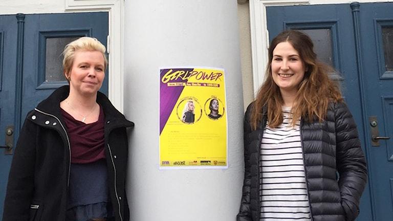 iktoria Wisén (kommunen) och Elli Moback (East FM)