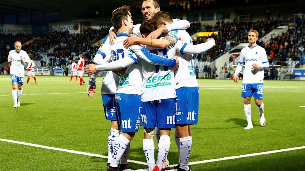 Jublande Norrköpingsspelare.
