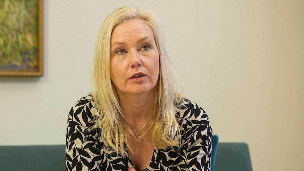 Infrastrukturminister Anna Johansson (S). Foto: Henrik Montgomery/TT
