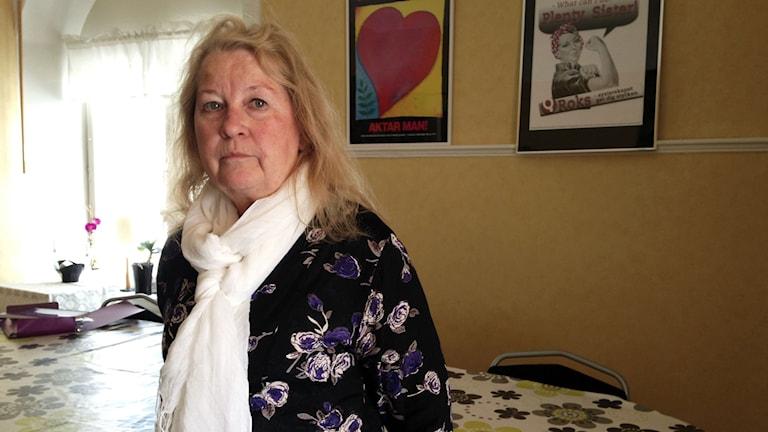 Tina Olby, ordförande för Motala Kvinnojour.