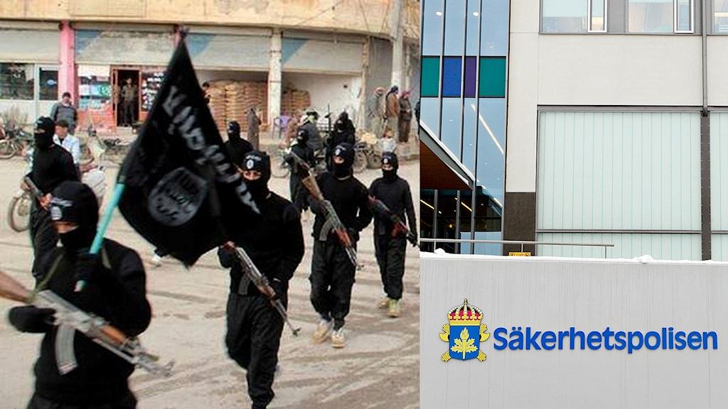 IS-krigare och Säkerhetspolisens entré.