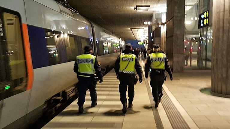 A border control at the Öresund bridge. Photo: Linda Axelsson.
