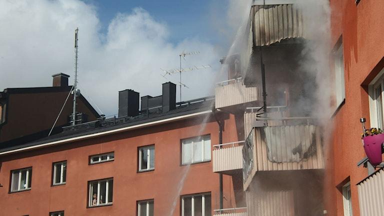 Lägenhetsbrand på Styrmansgatan i Norrköping