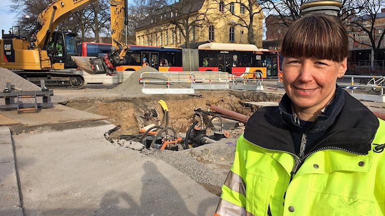 Emma Karlsson, arkeolog på Östergötlands museum.
