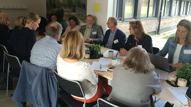 Diskussionsgrupp under dialogmötet om landsbygdsfrågor