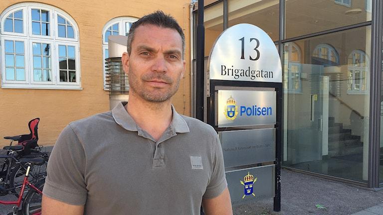 Daniel Axelsson, chef för avdelningen grova brott på polisen i Linköping.
