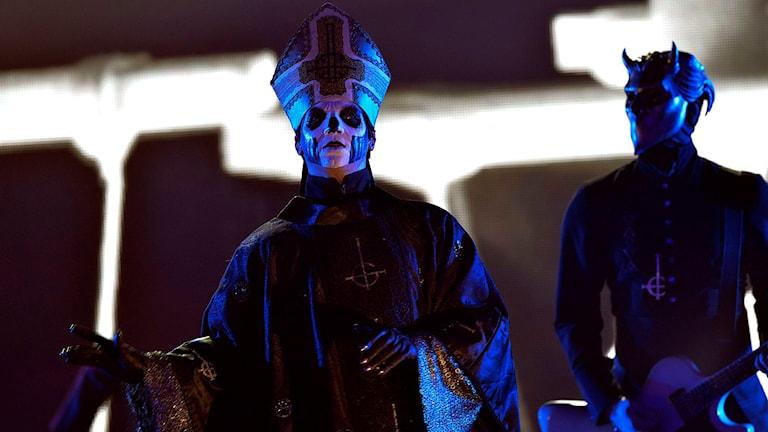 Ghost uppträder på Grammisgalan.