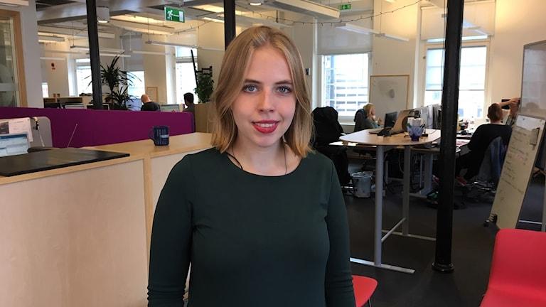 Linnea Rothin kan få pris för sitt engagemang i frågor kring jämställdhet och teknik.