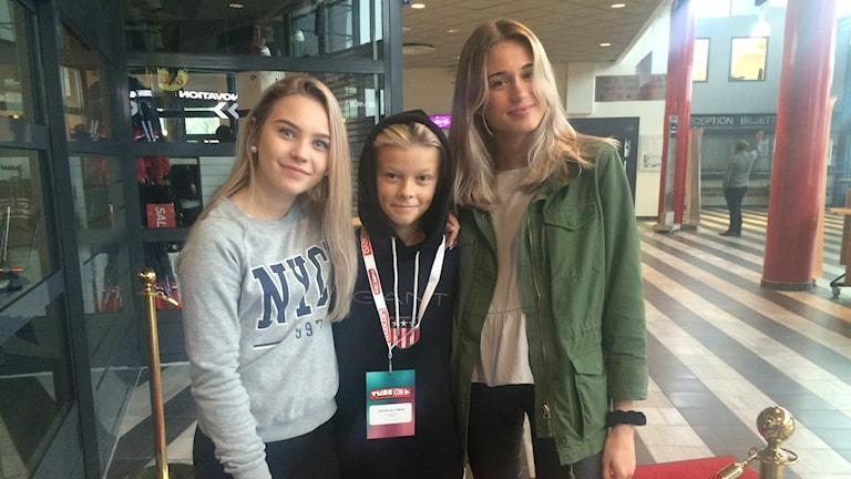 Amanda Edmundsson, Theodor Haraldsson och Amanda Axelsson är alla stjärnor i sociala medier och imorgon får de möta sina fans.