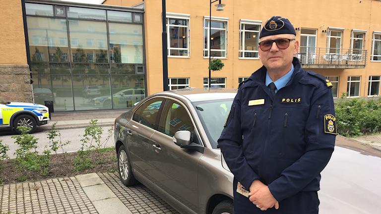 Tomas Agnevik, polisens presstalesperson