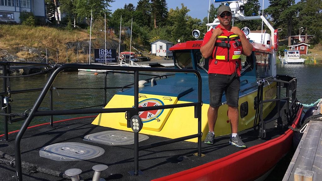 Jim Karlsson, sjöräddningsällskapet. arkösund