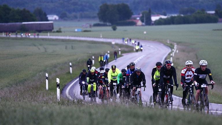 Cyklister mellan Motala och Vadstena under Vätternrundan 2017.
