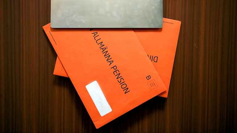 pensionskuvert, orange kuvert